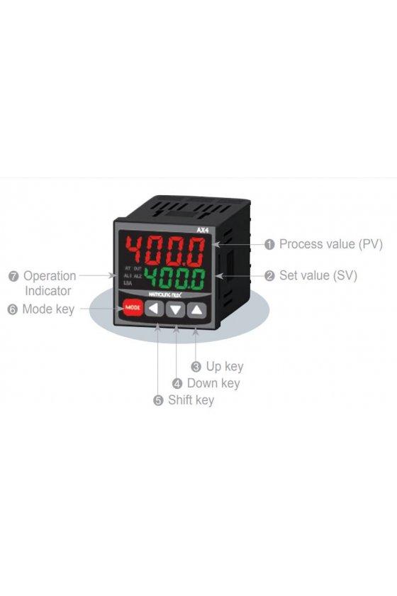 Control de temperatura digital 1/16 Din  48x48 mm entrada  J, K, pt100 , salida SSR AX4-2A