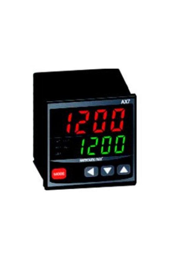 Control de temperatura digital  72x72mm  entrada  J, K, pt100 , salida SSR + Rele  AX7-1A