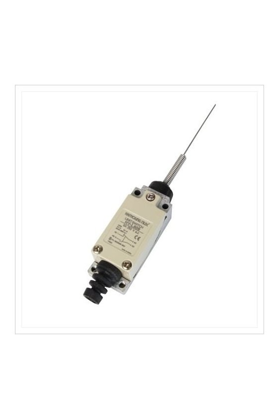 Mini Limit Switch con actuador de resorte contacto 1NA+1NC 6amp HY-L809