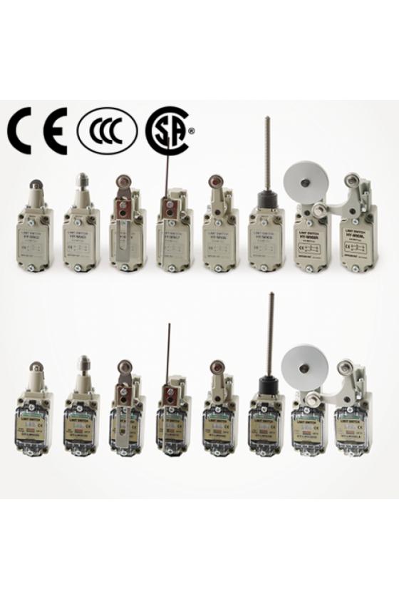 Mini Limit Switch con embolo de rodillo cruzado  plastico 1NA+1NC HY-LS802N
