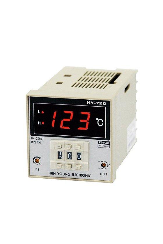 Control de temperatura digital T.switch 72x72mm entrada J salida Relay alim. 100-220vca HY-72DFJMNR07