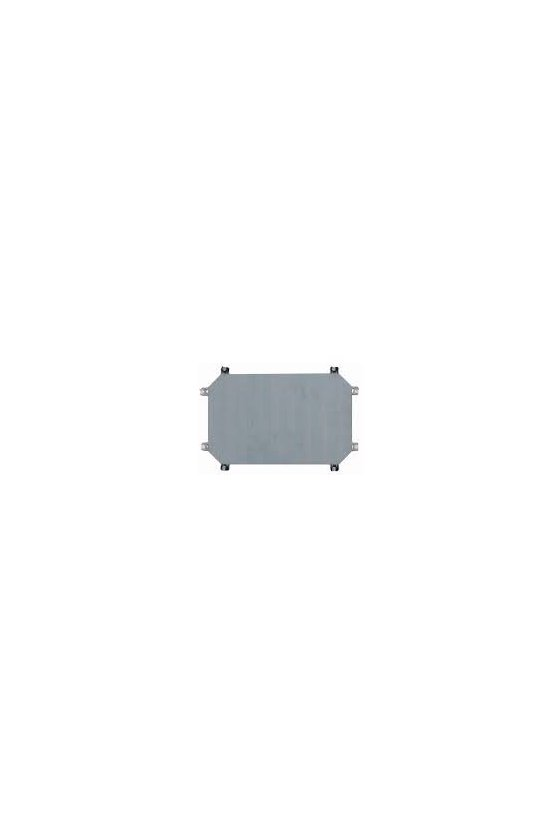 03036 Placa de montaje, acero, galvanizado, D - 3 mm, para carcasa CI45 M3-CI45