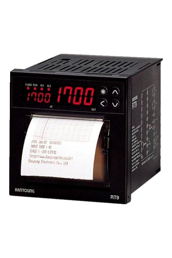 Registrador de temperatura y control  digital  96x96mm entrada universal de 1-5vcd, 0-10vcd RT9-102