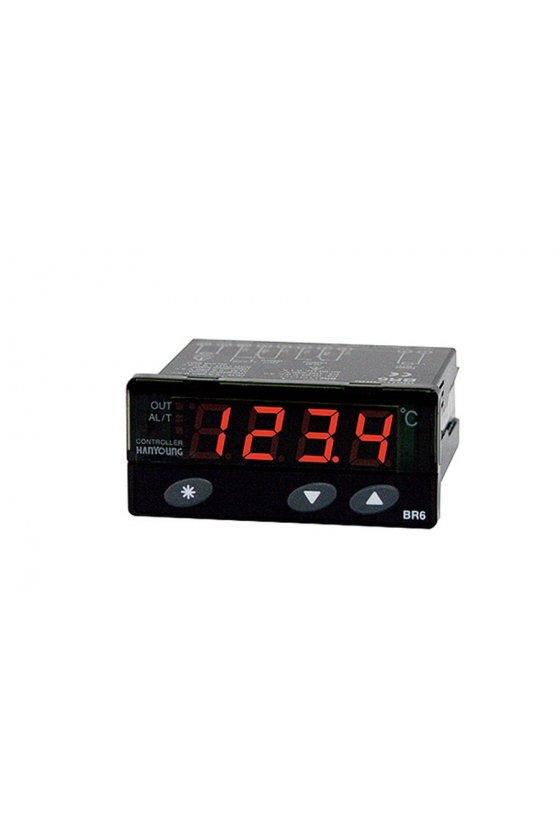 Indicador de temperatura  digital  72x36mm entrada K Salida Relay ED6-FKMNP4