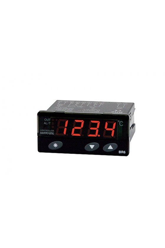 Control de temperatura digital 77x35mm control ON/OFF entrada PT100 salida a relevador ED6-FPMAP4