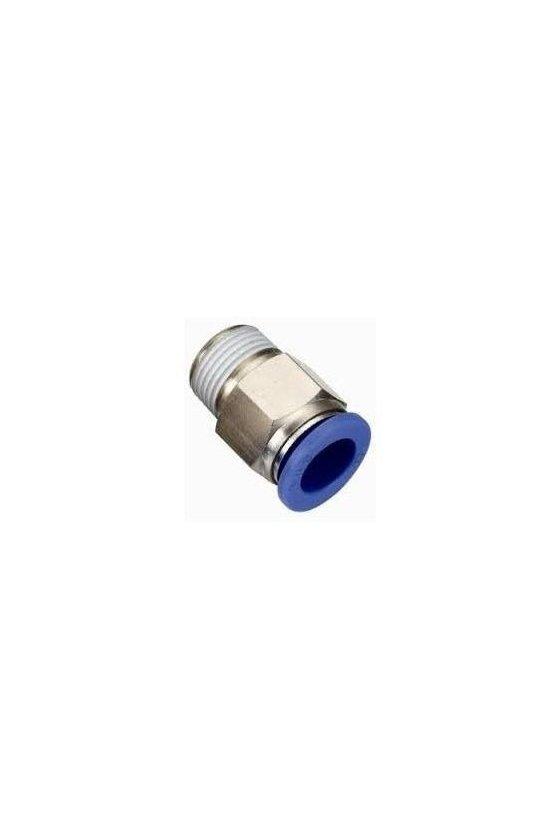 SKC4-01 Conexion racor recta rosca macho 1/8 para manguera de 4mm