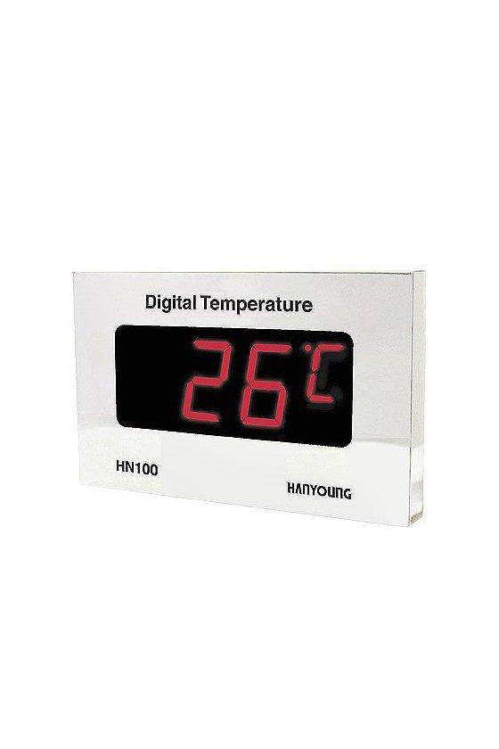Indicador de temperatura digital  275x170mm entrada 4-20mA  DC  Rango -19.9 - 99.9ºC  HN100-2