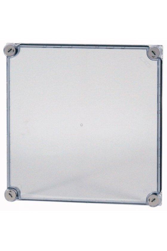19576  Tapa, gris ahumado transparente, HxWxD - 375x375x25mm D125-CI44