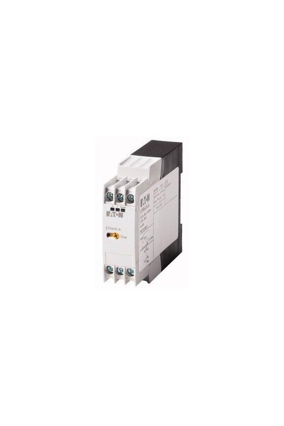 31891 Relé de temporización, 1W, 0.05s-100h, multifunción, 24-240VAC / DC ETR4-69-A