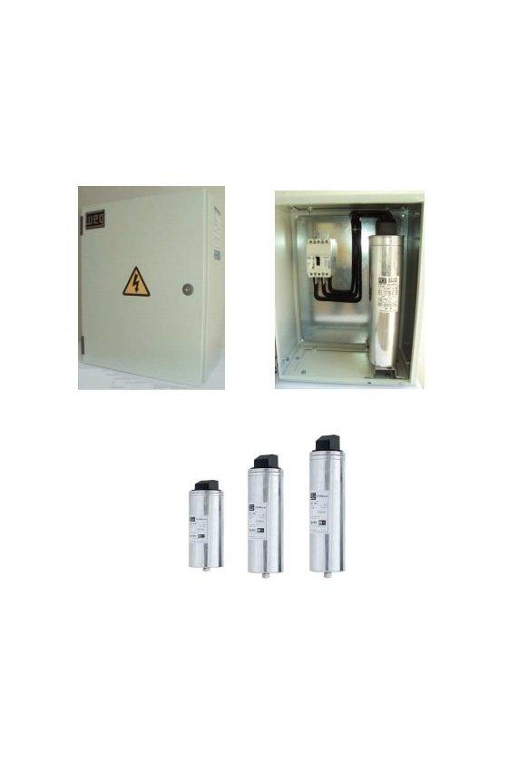 BFT050480 Banco de condensadores con interruptor automático carcasa metálica diseño mexicano