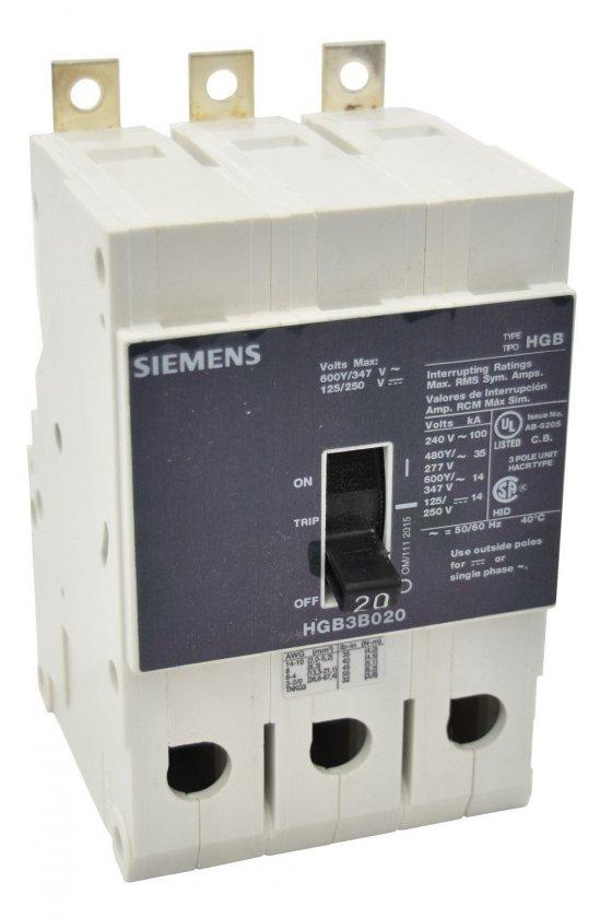 HGB3B015B Interruptor de circuito de marco g de bajo voltaje siemens con interruptor de marco g con térmico