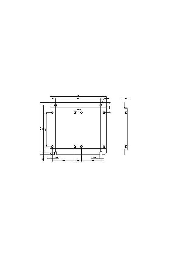 3RA19522A Placa base para montaje de combinación de dos contactores