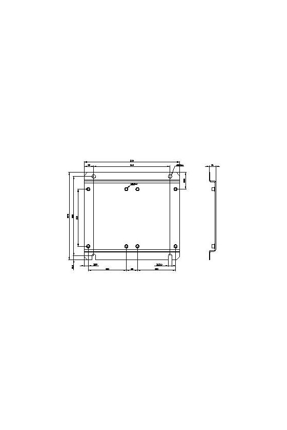 3RA19622A Placa base para montaje de combinación de dos contactores