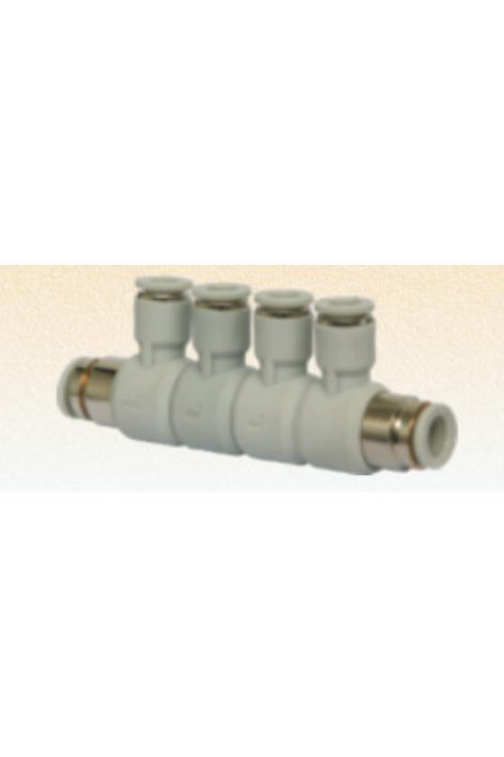 AFD12 Multiconector de 4 salidas en 12mm