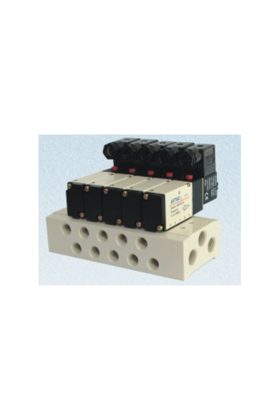 HD4V130C-BP Valvula 5 vías 3 posiciones doble solenoide p/manifold Serie 100 (todos los voltajes)