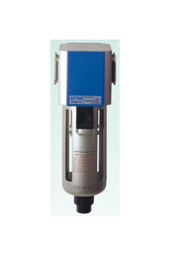 """GF600-20M Filtro puerto de 3/4"""" purga manual vaso de metal"""