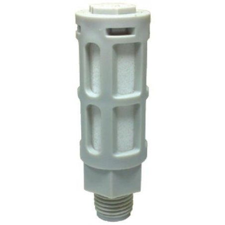 """PSU-01 Silenciador plástico gris de 1/8"""""""