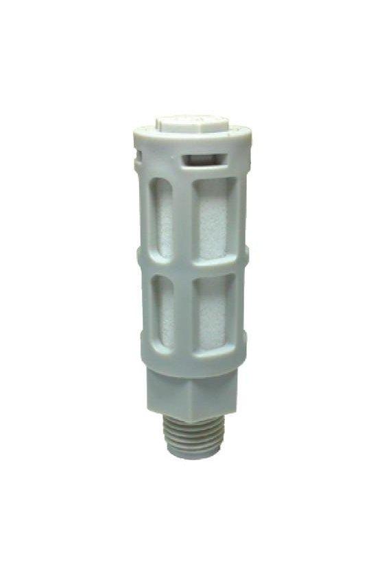 """PSU-03 Silenciador plástico gris de 3/8"""""""