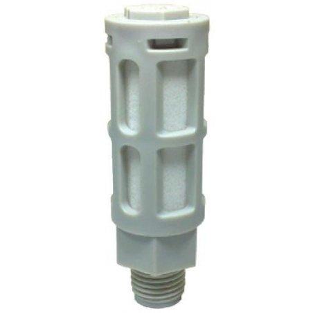 """PSU-04 Silenciador plástico gris de 1/2"""""""