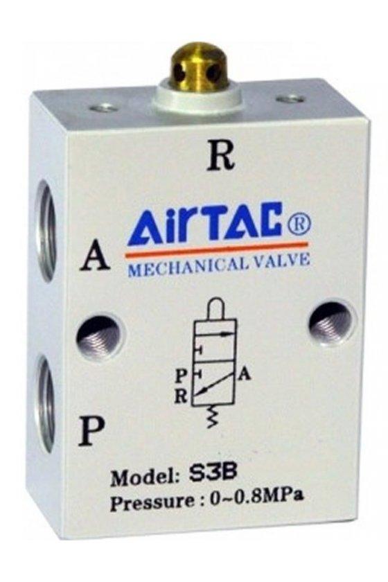 S3R-M5 Valvula de rodillo 3 vías 2 posiciones puerto de M5