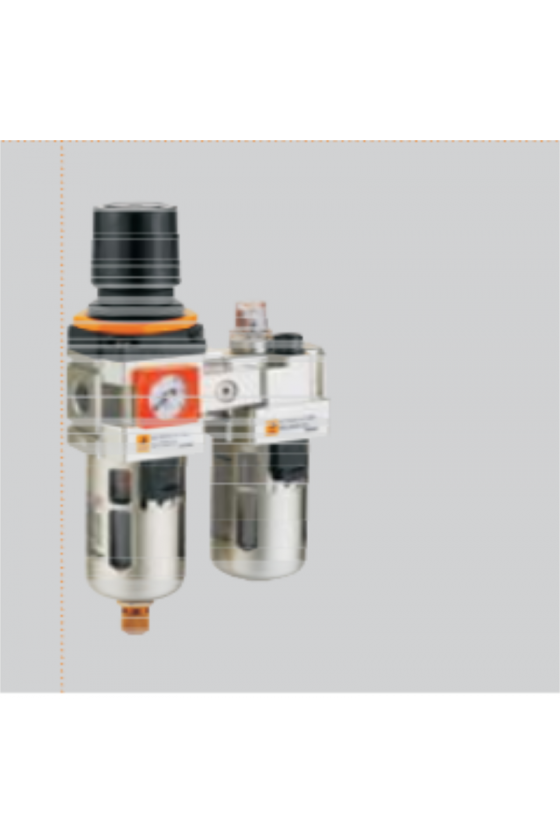 EIC5010-10 FILTRO REGULADOR LUBRICADOR 1 CON MANOMETRO DREN MANUAL 6200 L/MIN
