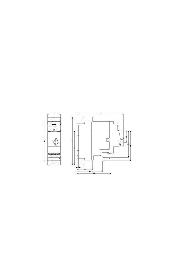 3RA6400-1AB43 Arrancadores directos en línea 3RA64  DOL para IO-Link 690 V 24 V CC