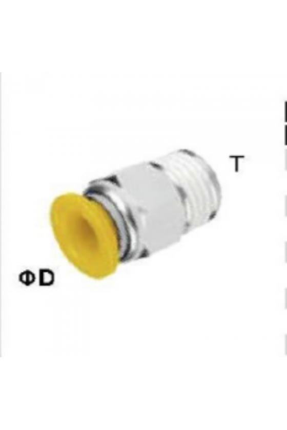 EPC06-M5 CONECTOR RECTO TUBO 6MM ROSCA M5
