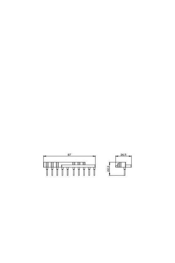 3RA2913-3DA1 Parte superior del módulo de cableado para el conjunto de contactor S00