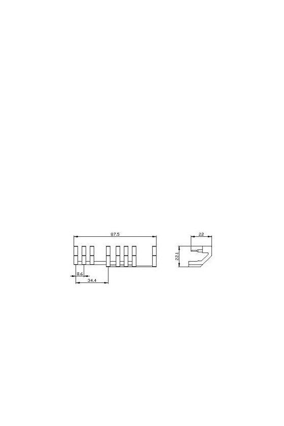 3RA2923-3EA2 Bloque de cableado inferior del módulo de cableado para el tamaño del conjunto de contactor S0