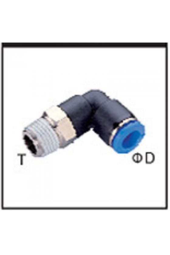 EPL06-02-A CONECTOR 90GRADOS TUBO 6MM ROSCA 1/4