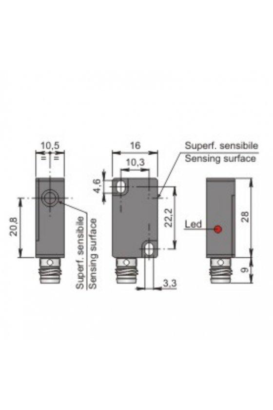 SIP10C2 NPN NCH1 (SIP000075) SENSOR DE PROX 10MM DIAM SENSA 2MM 6-30VDC