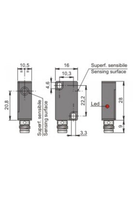 SIP10C2 PNP NCH1 (SIP000079) SENSOR DE PROX10MM DIAM SENSA 2MM 6-30VDC