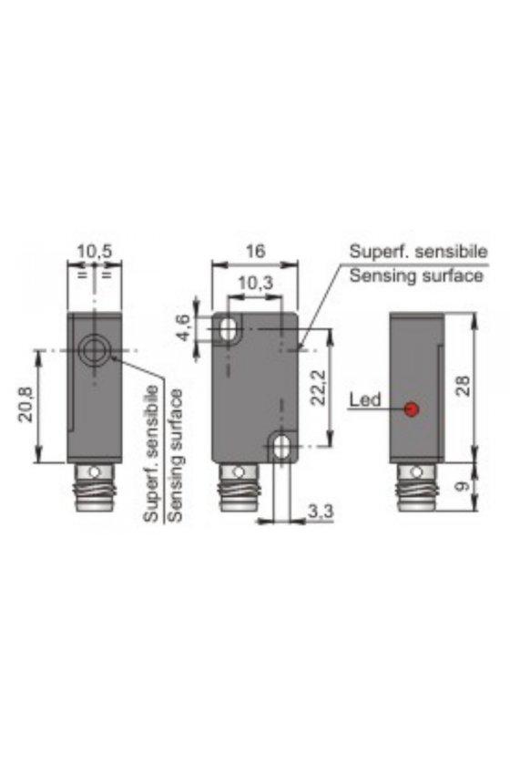SIP10C2 PNP NOH1 (SIP000077) SENSOR DE PROX 10MM DIAM SENSA 2MM 6-30VDC