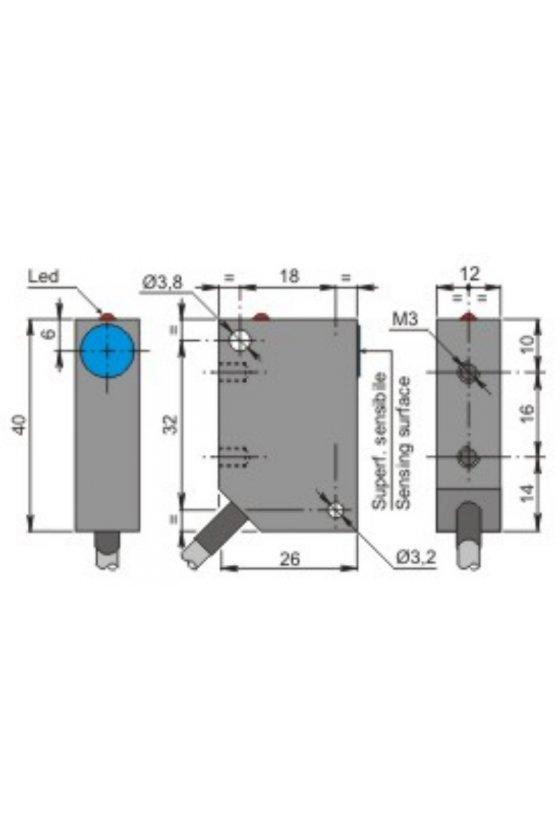 SIP12AE4 NO (SIP000040) SENSOR DE PROX12MM DIAMSENSA 4MM 20-250VAC
