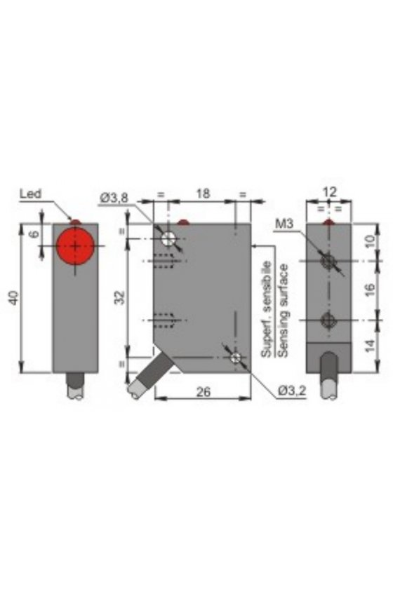 SIP12C2 PNP NONC (SIP000062) SENSOR DE PROX12MM DIAMSENSA 2MM 10-30VDC