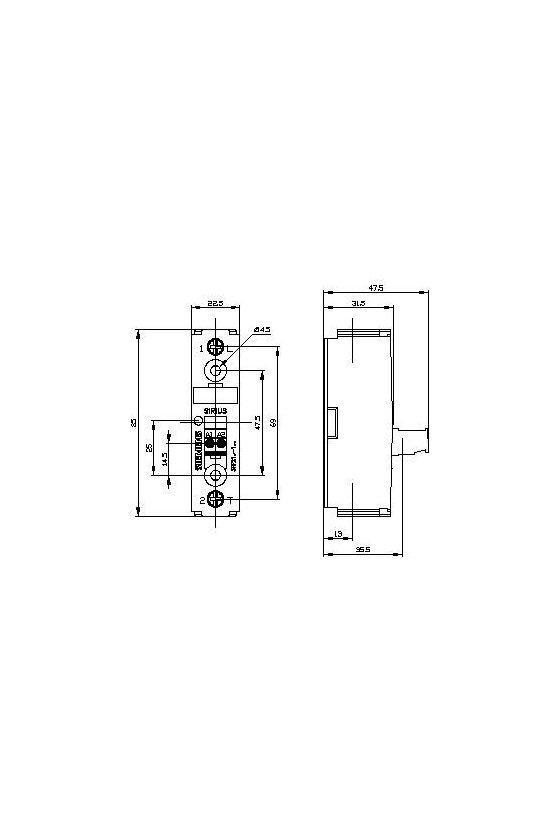 3RF2130-1AA26 Relé de estado sólido SIRIUS 3RF21, monofásicos, 22.5 mm