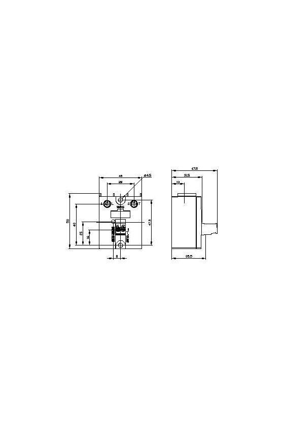 3RF2070-1AA45 Relés de estado sólido SIRIUS 3RF20, monofásicos, 45 mm