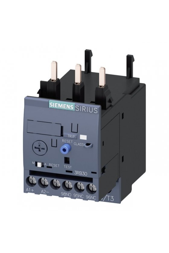3RB3133-4UD0 Relé de sobrecarga 3RB30, 3RB31 para aplicaciones estándar