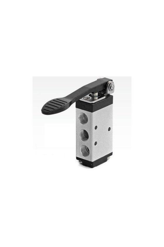 """M5C110-06 Válvula de control 5 vías 2 posiciones palanca larga entradas de 1/8"""""""