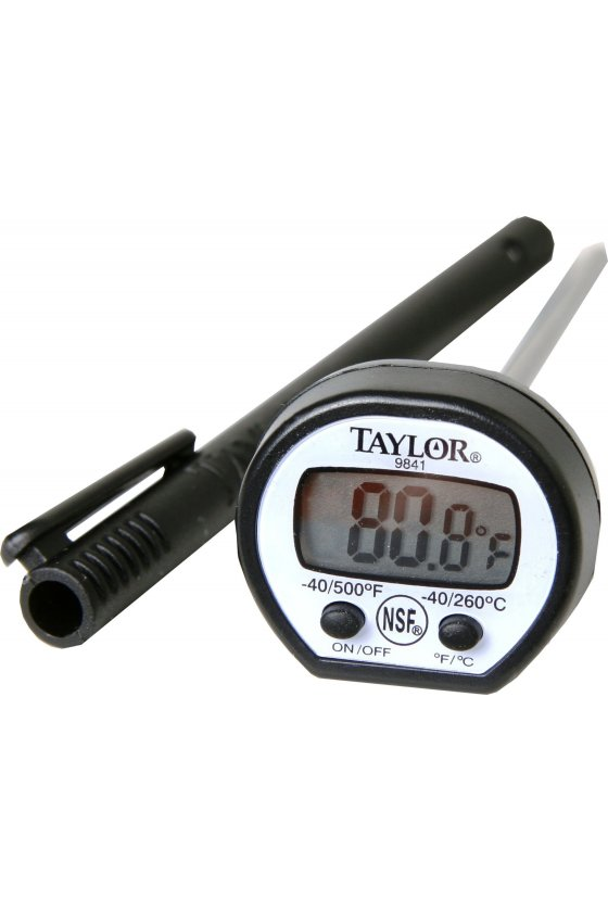 9841 -50/260 Termómetro digital de bolsillo rango -50 a 260 °C caratula oval