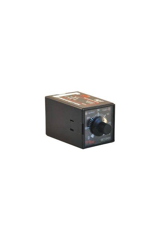339C 09 TG Relevador de tiempo de un solo rango 0-3 min 24 VCD/VCA multi-función