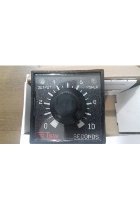 SRC 02 QA Relevador de tiempo electrónico enchufable 0-1 seg 120 VCA Retardo p/Salir de un solo rango