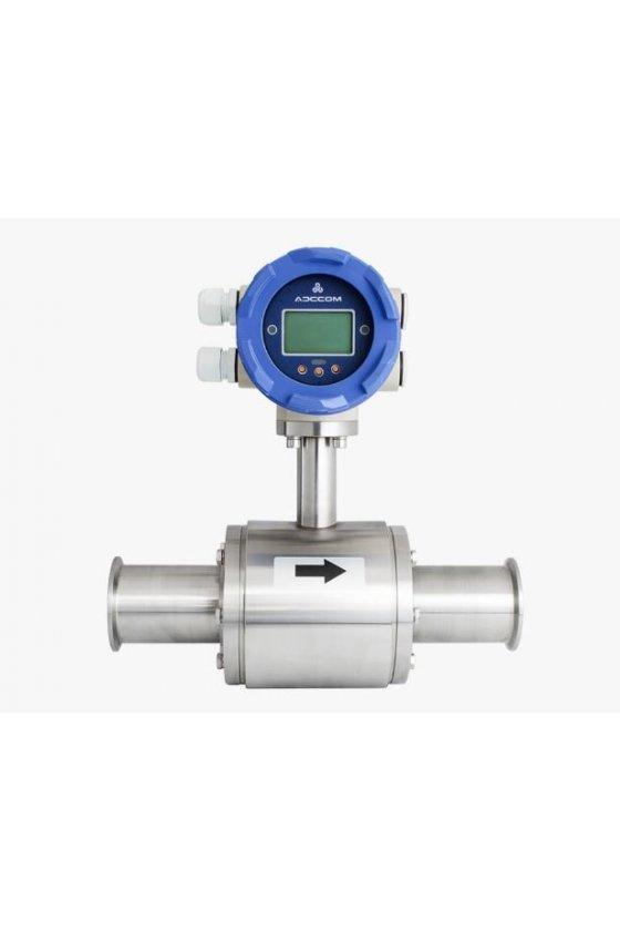 ETG C 010 MEDIDOR ELECTROMAGNÉTICO  3/8 ACERO INOXIDABLE CNX CLAMP 110-220 VAC ADCCOM