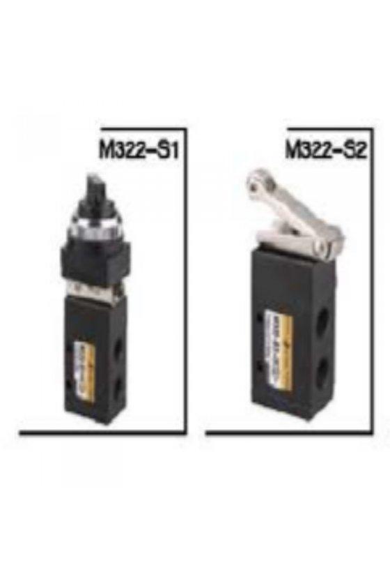M322-S1/M32-08S1BVALVULA DE SELECTOR 3/2 DE 1/4