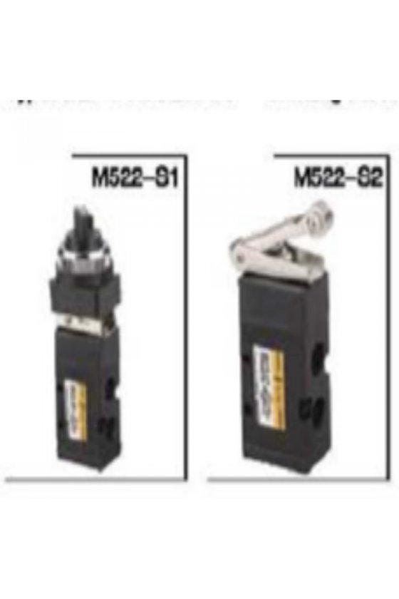 M522-S2/M52-08S2 VALVULA DE RODILLO 5/2 DE 1/4