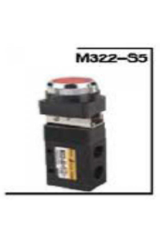 M522-S5/M52-08-S5R  VALVULA DE BOTON PUSH 5/2 DE 1/4