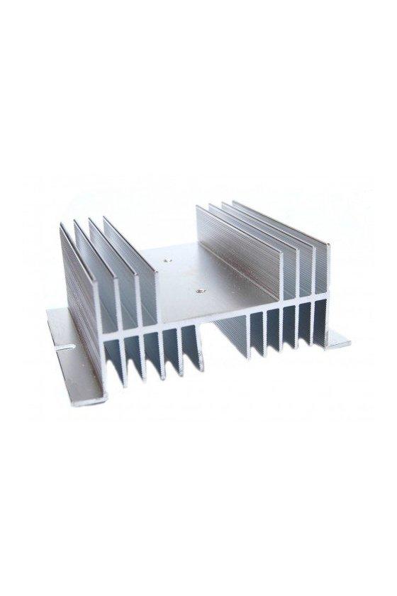ZDHS2B Disipador 100x100x50mm aluminio sencillo 60 amps