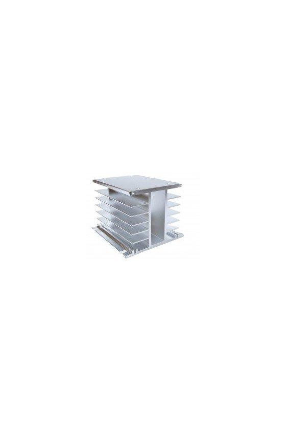ZDWHA disipador con opción ventilador 110x80x80mm aluminio trifásico 40amps
