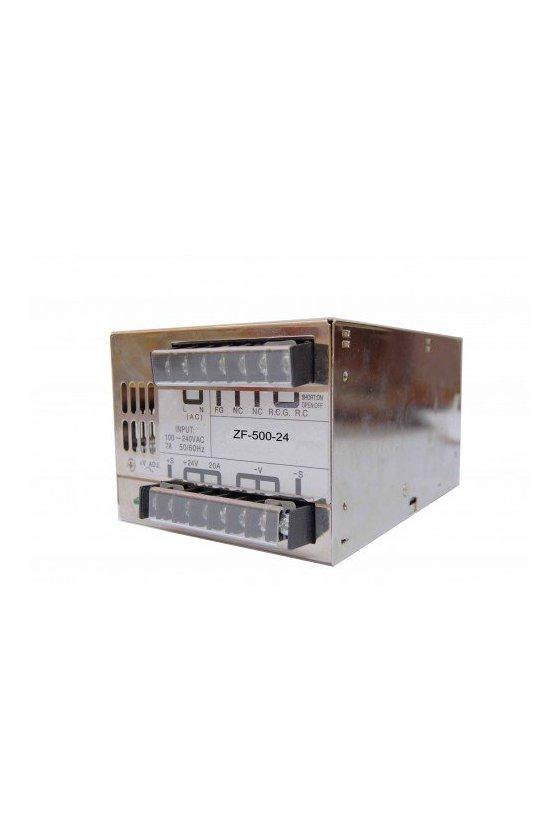 ZF50024  fuente de poder input 100-240 vac output + 24v / 20amps.