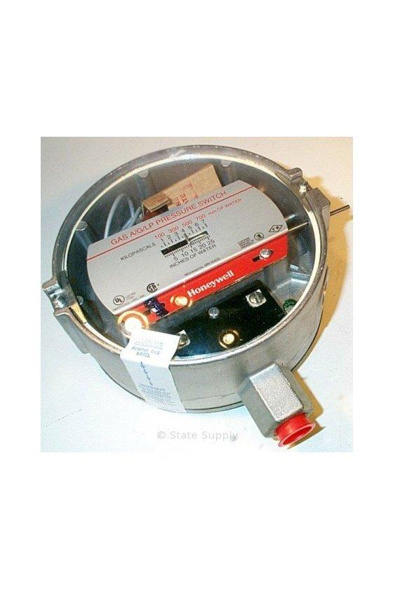 C437E2002 Interruptor de presión, reinicio manual, 1 pulgadas de wc a 26 pulgadas de wc